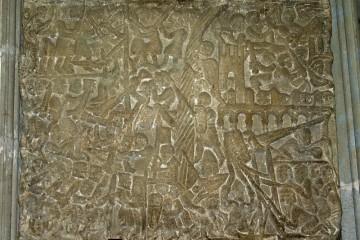 Einer solchen Belagerung, wie sie auf dem Relief aus Carcassonne (F) zu sehen ist, konnten nur die wenigsten Spessartburgen standhalten.