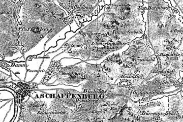 Ein Steinstich aus dem 19. Jahrhundert zeigt nordwestlich von Haibach einen als Quadrat eingezeichneten Burgstall, der eindeutig als die Ketzelburg identifiziert werden kann.