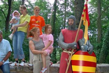 Eine besondere Attraktion war der Besuch des Ritters von Frammersbach