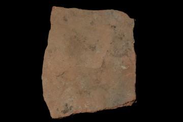 Fragment einer Bodenfliese von der Ketzelburg: Unterseite