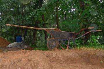 Heute fiel die Grabung wegen Regen aus.