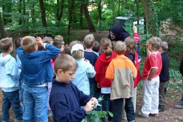 Zumindest die meisten waren interessiert ... bei der Führung einer zweiten Klasse der Grundschule in Haibach