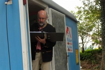 Dieter führt die Teilnehmerliste.