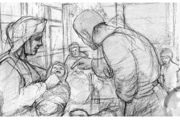 Daheim im Turm: Soziale Verhältnisse lassen sich nachgezeichnen. Zeichnung: Christian Meyer zu Ermgassen, Kellinghusen