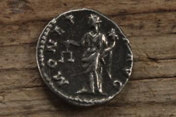 Eine römische Münze in Elisabethenzell?!? Allerdings eine moderne Kopie. Da wollte uns jemand einen Bären aufbinden. Der Spaßvogel wurde wenig später entlarvt.
