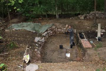 Ein letztes Mal (für dieses Jahr) wird der Teich ausgeschöpft.