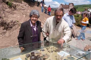 An jedem Burgfest wurden die neuesten Ausgrabungsfunde in einer kleinen Ausstellung präsentatiert.