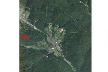 Luftbild der Gemarkung Partenstein vom 19.07.2014 mit Bodendenkmälern (6km x 6km). Quelle: Bayerischer Denkmal-Atlas (www.blfd.bayern.de); Bearbeiter: Karl-Heinz Gertloff, Egelsbach.