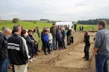 Die Öffentlichkeit konnte beim Grabungsfest Einblick in die Laufende Grabung nehmen.