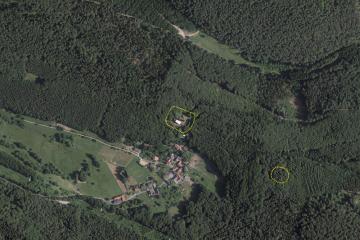 Luftbild/Digitales Orthofoto vom 9.6.2014 (Gebietsausschnitt 800 m x 1200 m). Quelle: Bayerischer Denkmal-Atlas