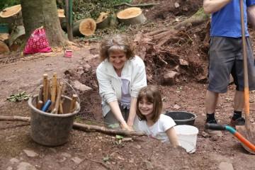 Auch Helfer, die nur einen Tag auf der Grabung waren, hatten ihren Spaß.