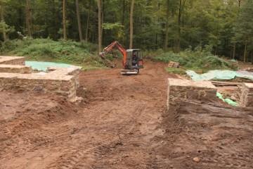 Mit der Wiederherstellung der einstigen Zufahrt ins Kloster endeten heute die Arbeiten am Einsiedel - für dieses Jahr.