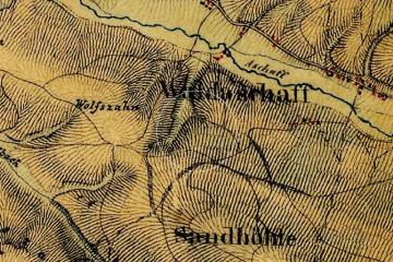 Die Burg Wahlmich auf dem Positionsblatt 1:25000 von 1846. Quelle: Bayerischer Denkmal-Atlas