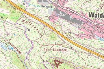 Die Burg Wahlmich in der digitalen Topographischen Karte 1:25000. Quelle: Bayerischer Denkmal-Atlas