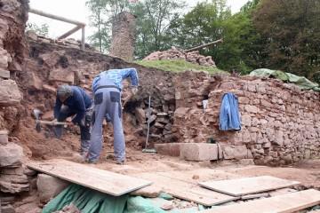 Das Tor war nun fast vollständigen ausgegraben...