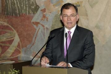 Der Bezirkstagspräsident Erwin Dotzel hob das überregionale Engagement des Spessartprojektes hervor
