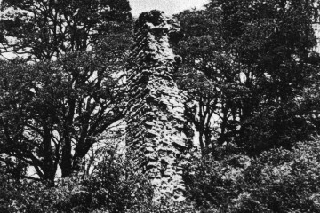 Am Fragment der Südwestecke der Ringmauer waren vor dessen Sanierung noch die einzelnen Geschosse des Palas erkennbar.