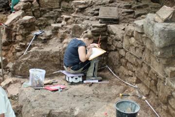Kathrin - hier bei der Mauerdokumentation - war die Dritte im Bunde ....