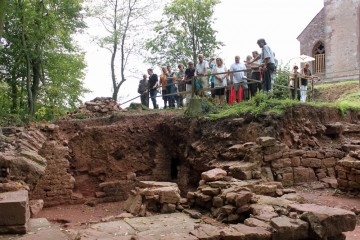 Erstmals konnten die Fundamente des Frauenklosters Interessierten vorgestellt werden.
