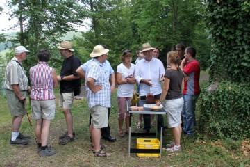 Vorstellung der ersten Funde anlässlich des Amorbacher Bürgerfestes 2010