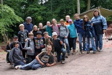 Am Ende der Projektwoche der Hauptschule Amorbach gab es noch ein Gruppenfoto.