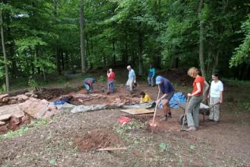 Das Grabungsteam erfuhr in dieser Woche Unterstützung aus den Niederlanden.