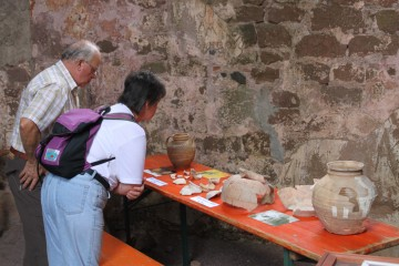 An diesem Wochenende konnten erste Funde der Grabungen 2011 besichtigt werden.