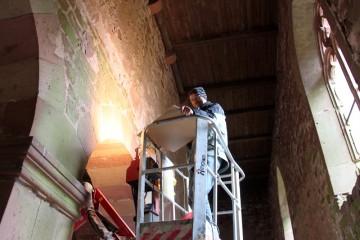 Bauhistoriker wollen im Gegensatz zu Archäologen hoch hinaus.