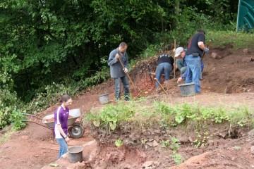 Schwerpunkt der Grabungen 2012 bildete die nördliche Außenmauer.