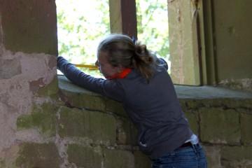 Erst ein exaktes Bauaufmaß erlaubt Rückschlüsse auf die Geschichte der Kirchenruine.