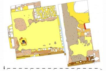 Gesamtplan der Grabungen im Hausinneren (2012)