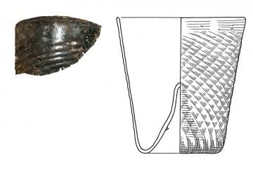 Fragment eines Bechers (Maigelein), Spessart, 15. Jahrhundert