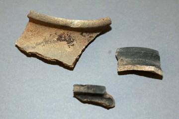 Keramiken der glimmerhaltigen Vorspessartware, Untermain, um 1250