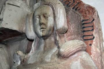 Grabmal des Voit von Rieneck und seiner Gattin im Kloster Neustadt am Main. Letztes Drittel des. 14. Jahrhunderts.