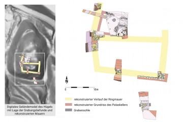 Waldaschaff, Burg Wahlmich, Gesamtplan der Grabungen 2016. Planerstellung: Sabrina Bachmann, Heimbuchenthal