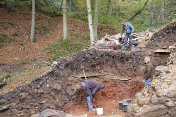 Ende Oktober wurden die letzten Reste der Kellerverfüllung ergraben.