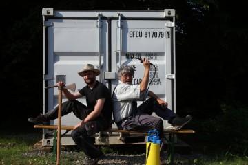 Michael und Harald warten ...