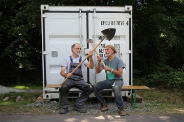 Marc und Erwin warten ...