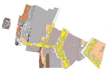 Burg Hauenstein: Übersicht über das Grabungsareal (Schnitt 1 & 2)