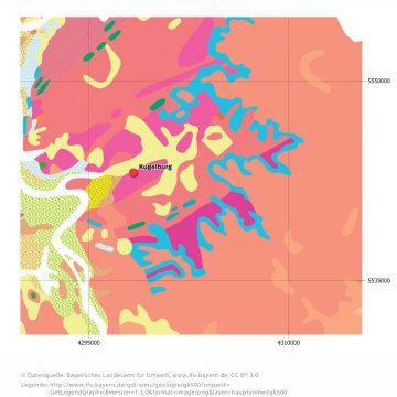 Geologische Haupteinheiten (GK 500) um den Kugelberg bei Goldbach