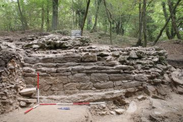 Südlicher Teil der westlichen Ringmauer von Westen gesehen