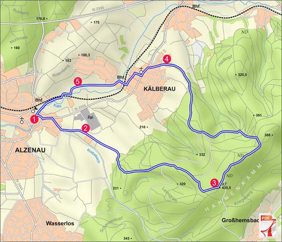 Alzenau 2 : Wald und Wallfahrt