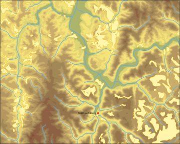 Geomorphologische Struktur der Region mit Lößanlagerungen. Bearbeitet von: Jürgen Jung, Spessart-GIS
