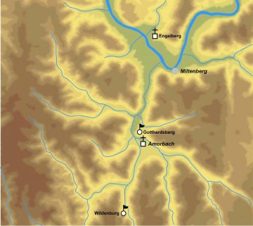 Kartierung historisch relevanter, regionaler Bezugspunkte. Bearbeitet von: Jürgen Jung, Spessart-GIS