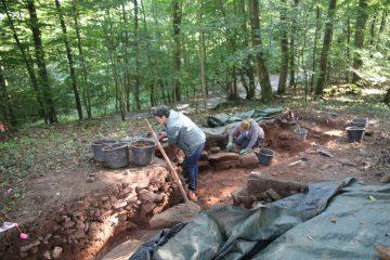 Auch östlich des Burgtors gehen die Arbeiten weiter.