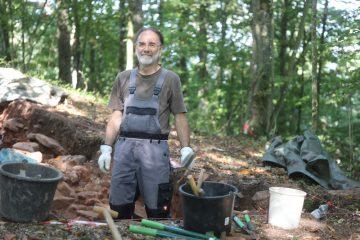 Marc hat sich auch in diesem Jahr als wichtiger Teil der Grabungscrew erwiesen.